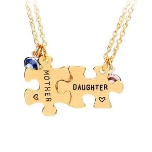 ⭐️MotherDaughter Puzzle Necklaces